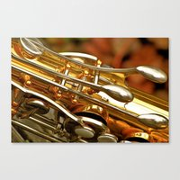 saxophone Canvas Prints featuring Saxophone by JudithsPhotos