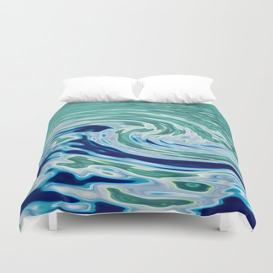 OCEAN ABSTRACT 2 Duvet Cover