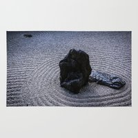 zen Area & Throw Rugs featuring Zen by Michelle McConnell