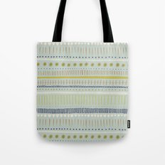 Teal & Green Pattern Tote Bag