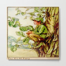 """""""The Elm Fairy"""" by Cicely Mary Barker 1920 Metal Print"""