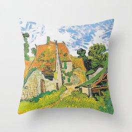 Vincent Van Gogh Village Street in Auvers 1890 Throw Pillow