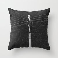 wallet Throw Pillows featuring Forgetting the Big Picture and Making it Wallet Size by Linas Vaitonis