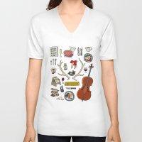 hannibal V-neck T-shirts featuring Hannibal by Shanti Draws