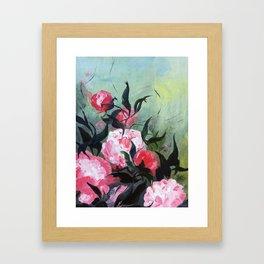 Pivoines malgré tout Framed Art Print