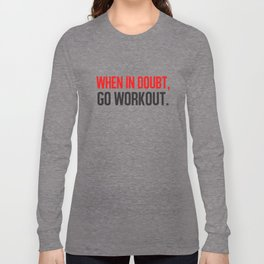 When In Doubt Go Workout Women Racerback Tank Top Shirt Crossfit Train Yoga Gym T-Shirts Long Sleeve T-shirt