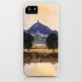 Misty Tor - Glastonbury, Somerset iPhone Case