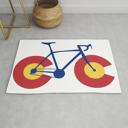 Colorado Flag Bicycle Rug