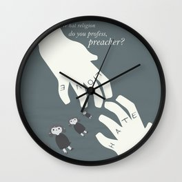 The Night of the Hunter - Movie Poster Wall Clock