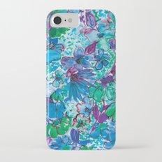 Wildflower Blue Slim Case iPhone 7