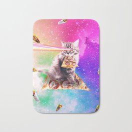 Outer Space Pizza Cat - Rainbow Laser, Taco, Burrito Bath Mat