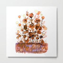 Floral Charm No.1F by Kathy Morton Stanion Metal Print