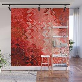 Edged Momentum (mystic scarlet) Wall Mural
