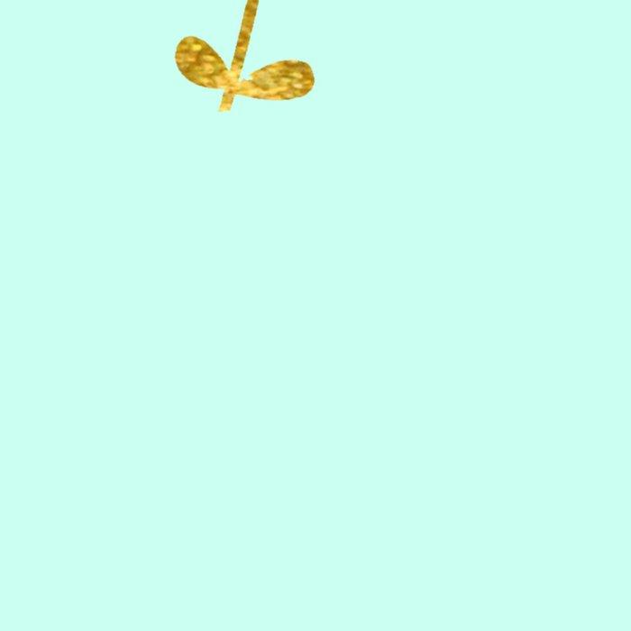Mint Gold Foil 03 Leggings