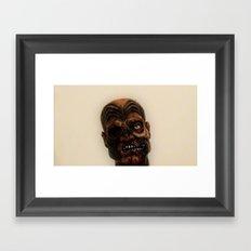 Maori zombie  Framed Art Print