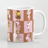 animal crossing Mugs featuring Animal Crossing: Chocolate Strawberry by Square Aquarium