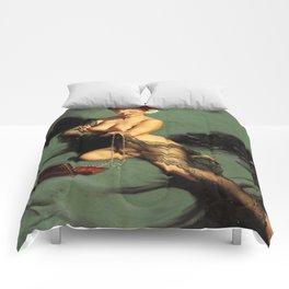 Fascination Gil Elvgren Pin Up Girl Comforters