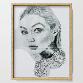 Gigi Hadid Portrait Serving Tray