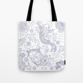 Japanese Tattoo Tote Bag