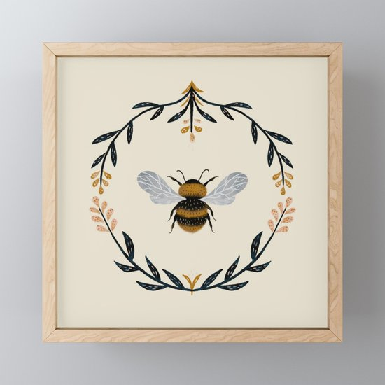 Ode to the Bumblebee (in cream) by emilydove
