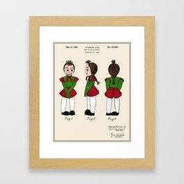 Creepy Doll Patent Framed Art Print
