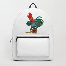Does the rooster that narrates Backpack