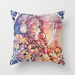 Nouveau Spring Music Festival Throw Pillow