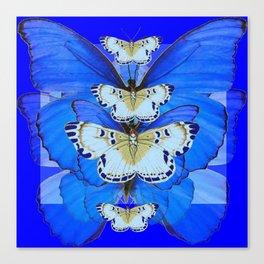 BLUE BUTTERFLIES ABSTRACT PATTERNS ART Canvas Print