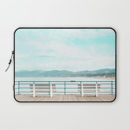 Travel photography Santa Monica III bench Laptop Sleeve