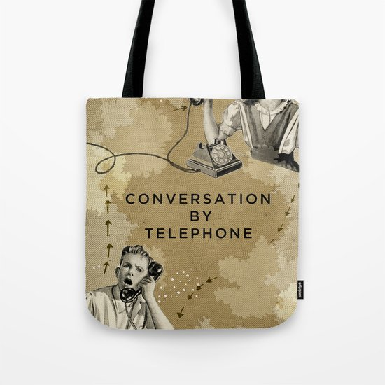 Conversation by Telephone Tote Bag