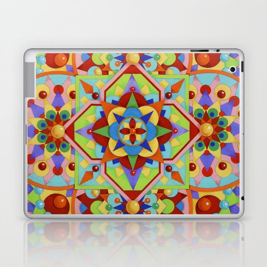 Chartres Mandala Laptop & iPad Skin