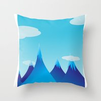 cycle Throw Pillows featuring Cycle by kylecschaeffer