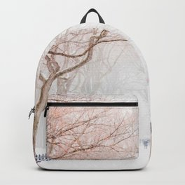 The Tree Path in Snow (Color) Backpack
