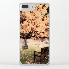 Contemplation, Open To Silence Clear iPhone Case