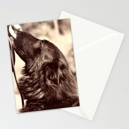 The love of a dog to man Stationery Cards