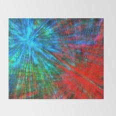Abstract Big Bangs 001 Throw Blanket