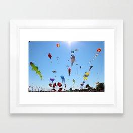 Kites over Lake Michigan Framed Art Print