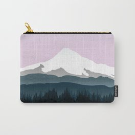 Mount Hood Forest - Pink Haze Carry-All Pouch