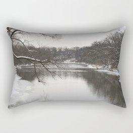 Winter on the River Rectangular Pillow
