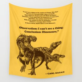 Conclusion: Dinosaurs (Color) Wall Tapestry