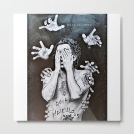 Scary Monsters QUITE RIDICULOUS Metal Print
