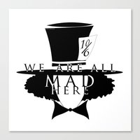 mad hatter Canvas Prints featuring Mad Hatter by Rose's Creation
