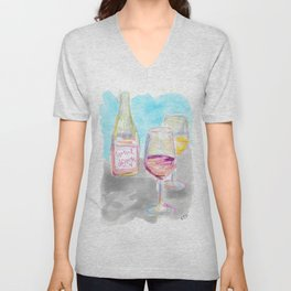 Wine Down Unisex V-Neck