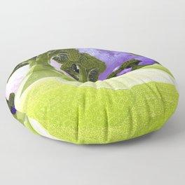 Broccoli Planet Floor Pillow