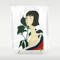 sisters Shower Curtains featuring Sisters by CARO PARK