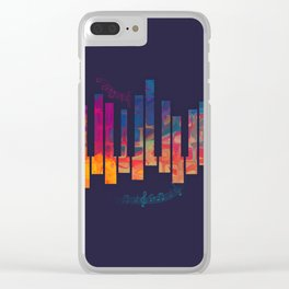 Piano Color Clear iPhone Case