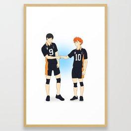 fistbump Framed Art Print