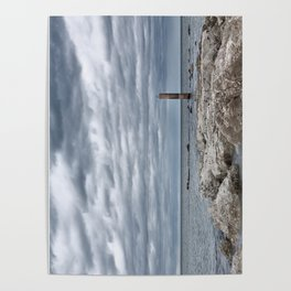 A cloudy day in Marina of Montemarciano, Italy Poster
