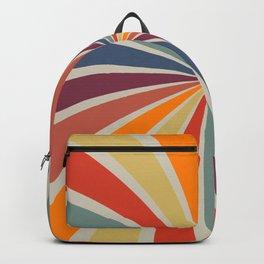 Spiral Stripe Retro Rainbow Backpack