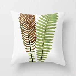 Merlans et algues papier peint Mouches et muguet etoffe de soie Hermine vulgaire bordure from Lanima Throw Pillow
